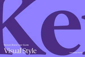 Kenyon Brand User Guide: Visual Style