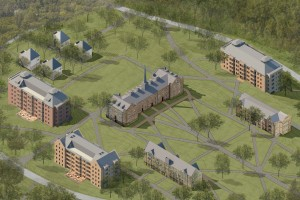 Rendering of South Campus residence halls