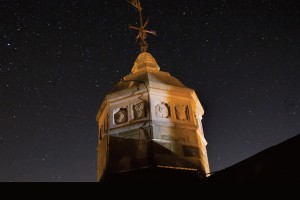 Stars above Peirce Tower